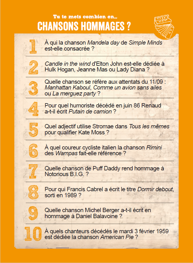 Chansons hommages